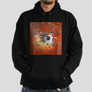 Soccer with skull, fire and water Hoodie