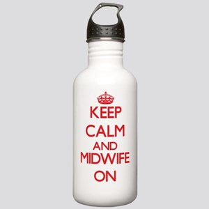 Keep Calm and Midwife Stainless Water Bottle 1.0L