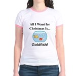Christmas Goldfish Jr. Ringer T-Shirt