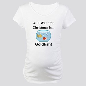 Christmas Goldfish Maternity T-Shirt