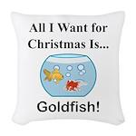 Christmas Goldfish Woven Throw Pillow