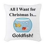 Christmas Goldfish Woven Throw Pillow