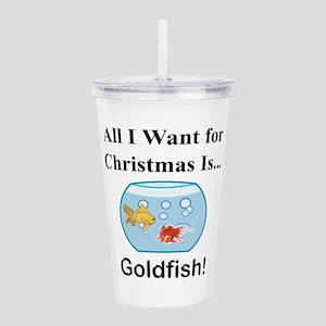 Christmas Goldfish Acrylic Double-wall Tumbler