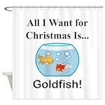Christmas Goldfish Shower Curtain