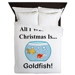 Christmas Goldfish Queen Duvet