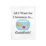 Christmas Goldfish 5'x7'Area Rug
