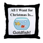 Christmas Goldfish Throw Pillow