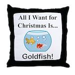 Christmas Goldfish Throw Pillow
