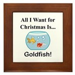 Christmas Goldfish Framed Tile