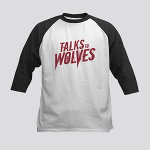 Talks to Wolves Kids Baseball Jersey