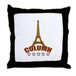 French T-shirts Throw Pillow