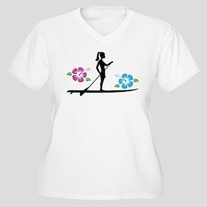 Paddleboarding girl Plus Size T-Shirt