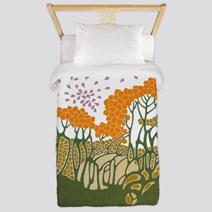 Art Nouveau Trees Twin Duvet