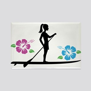 Paddleboarding girl Magnets
