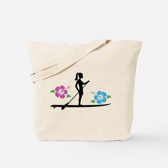 Paddleboarding girl Tote Bag