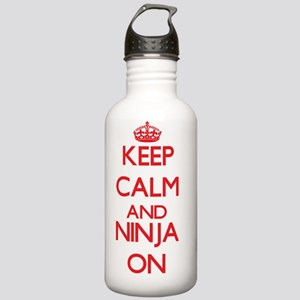 Keep Calm and Ninja ON Stainless Water Bottle 1.0L