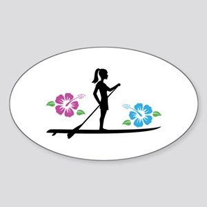 Paddleboarding girl Sticker