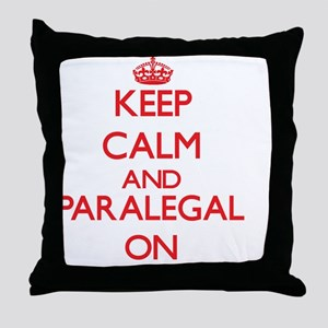 Keep Calm and Paralegal ON Throw Pillow