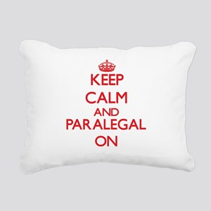 Keep Calm and Paralegal Rectangular Canvas Pillow