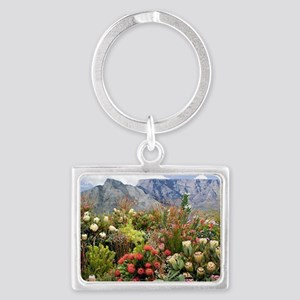 South African flower display in Landscape Keychain