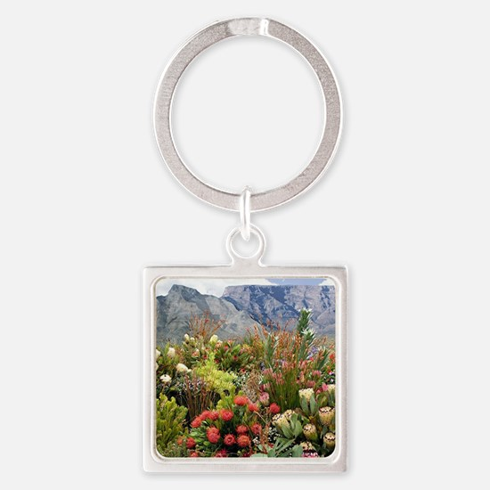 South African flower display in bl Square Keychain