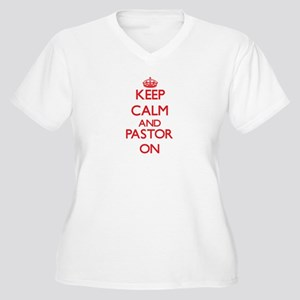 Keep Calm and Pastor ON Plus Size T-Shirt