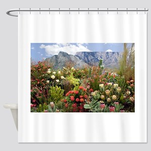 South African flower display in blo Shower Curtain