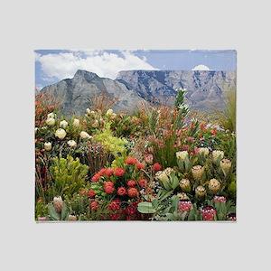 South African flower display in bloo Throw Blanket
