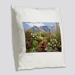 South African flower display i Burlap Throw Pillow