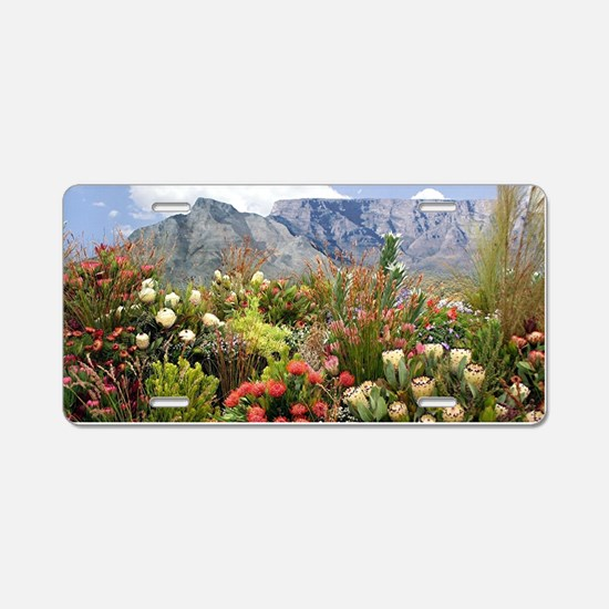 South African flower displa Aluminum License Plate
