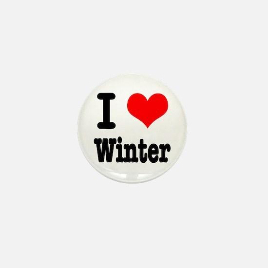 I Heart (Love) Winter Mini Button (10 pack)