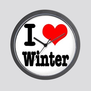 I Heart (Love) Winter Wall Clock