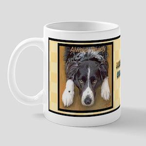 Border Collie Always Ready Mug
