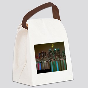 Two Moons Over San Diego Canvas Lunch Bag