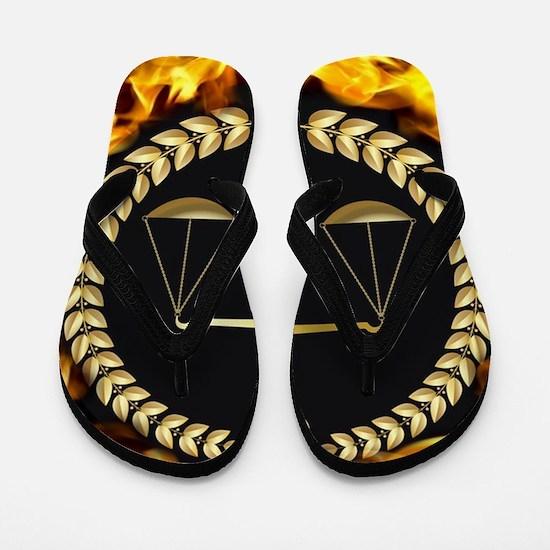 Flaming Justice Flip Flops