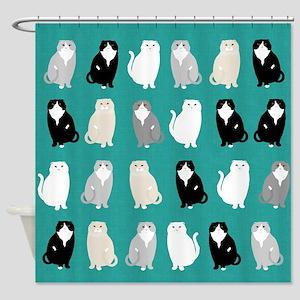 Scottish Fold Shower Curtain