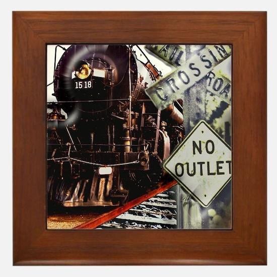 SQU Train Collage Framed Tile