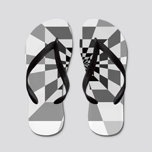 Op Art Hall Flip Flops