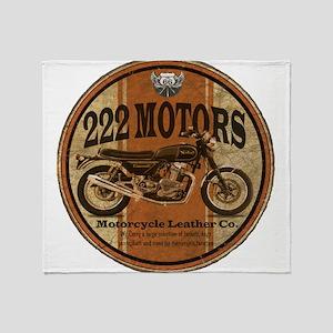 222 Motors - British Style Throw Blanket