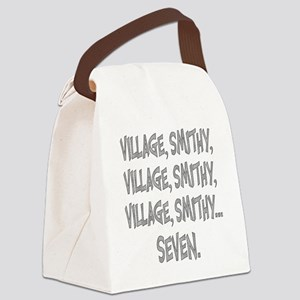 Village Smithy Silver Canvas Lunch Bag