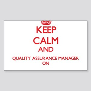 Keep Calm and Quality Assurance Manager ON Sticker