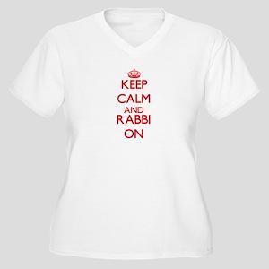 Keep Calm and Rabbi ON Plus Size T-Shirt