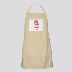 Keep Calm and Rabbi ON Apron