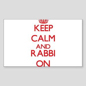 Keep Calm and Rabbi ON Sticker