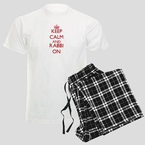 Keep Calm and Rabbi ON Men's Light Pajamas