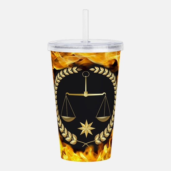Flaming Justice Acrylic Double-wall Tumbler