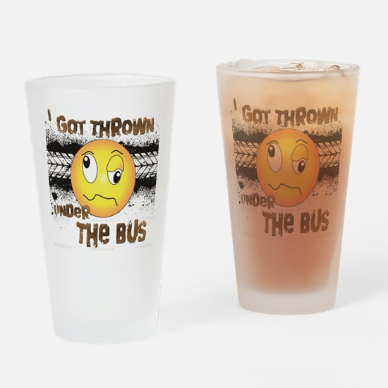 Under the Bus-Design 3 Drinking Glass