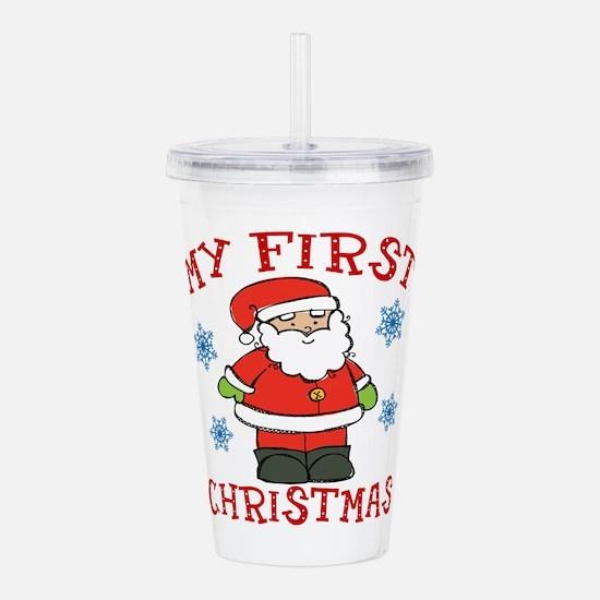 Baby's First Christmas Santa Cute Acrylic Double-w