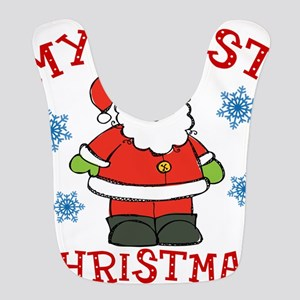 Baby's First Christmas Santa Cute Bib