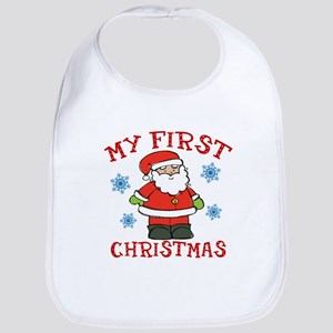 Baby's First Christmas Santa Cute Bib